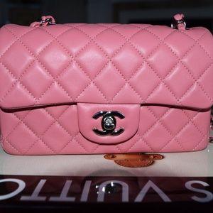 CHANEL Rectangular Mini Pink/Beige